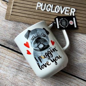 "Adorable PUG Valentine mug ""I PUGGIN LOVE YOU"""